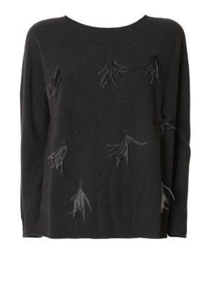 Fabiana Filippi: crew necks - Feather adorned wool sweater