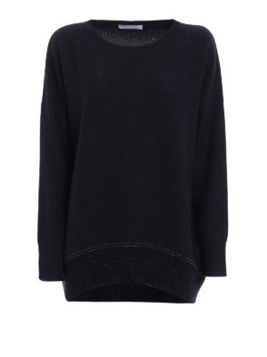 Fabiana Filippi: crew necks - Lurex bottom wool blend sweater