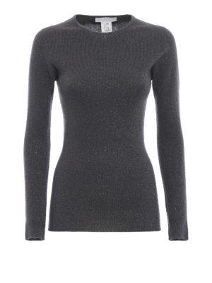 FABIANA FILIPPI: maglia collo rotondo - Maglia in misto lana merino a costine e lurex