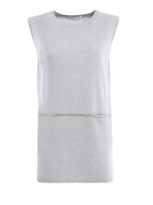 Fabiana Filippi: crew necks - Merinos sleeveless long sweater