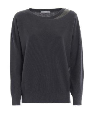 FABIANA FILIPPI: maglia collo rotondo - Maglia in lana merino con monile