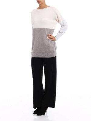 Fabiana Filippi: crew necks online - Colour block oversize pullover
