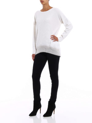 Fabiana Filippi: crew necks online - Embellished merino blend sweater