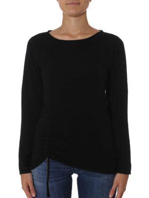 Fabiana Filippi: crew necks online - Jewel drawstring black wool sweater