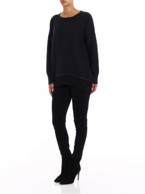 Fabiana Filippi: crew necks online - Lurex bottom wool blend sweater
