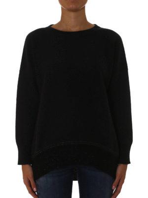 Fabiana Filippi: crew necks online - Lurex hem sweatshirt style sweater