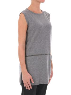 Fabiana Filippi: crew necks online - Sleeveless wool blend long sweater