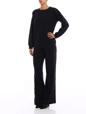 Fabiana Filippi: crew necks online - Velvet bands merino wool sweater