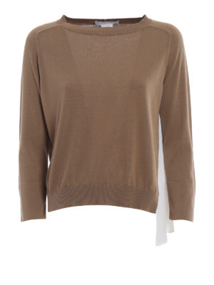 Fabiana Filippi: crew necks - Silk panelled cotton sweater