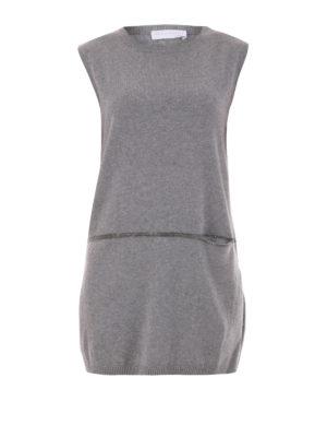 Fabiana Filippi: crew necks - Sleeveless wool blend long sweater