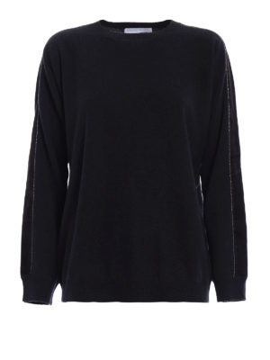 Fabiana Filippi: crew necks - Velvet bands merino wool sweater