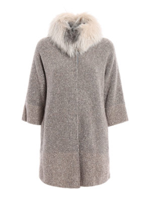 Fabiana Filippi: Fur & Shearling Coats - For fur insert boucle coat
