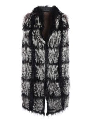 Fabiana Filippi: Fur & Shearling Coats - Fox fur insert cashmere waistcoat