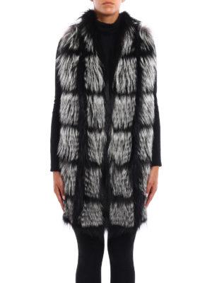 Fabiana Filippi: Fur & Shearling Coats online - Fox fur insert cashmere waistcoat