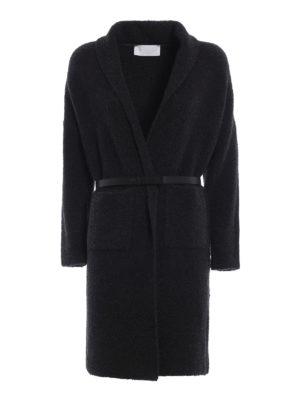 FABIANA FILIPPI: cappotti al ginocchio - Cappotto in misto lana bouclé antracite