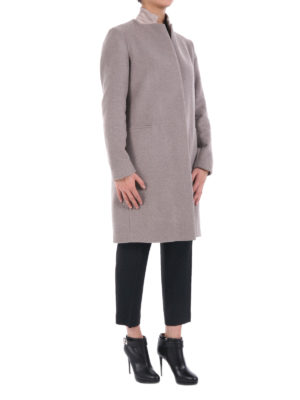 Fabiana Filippi: knee length coats online - Wool blend cloth straight coat