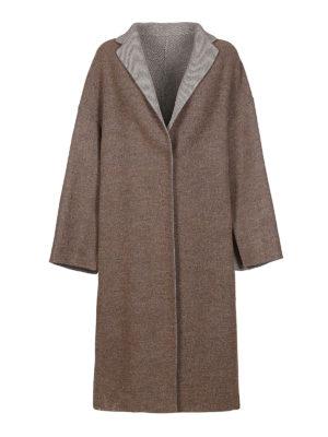 FABIANA FILIPPI: cappotti al ginocchio - Soprabito over in misto lana double