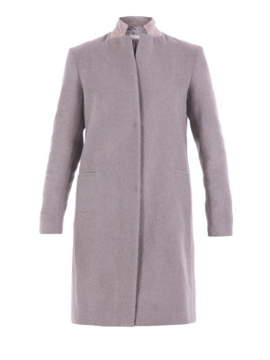 Fabiana Filippi: knee length coats - Wool blend cloth straight coat