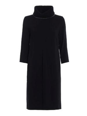 Fabiana Filippi: knee length dresses - Cady dress with knitted collar