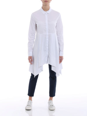 Fabiana Filippi: knee length dresses online - Cotton blend shirt dress