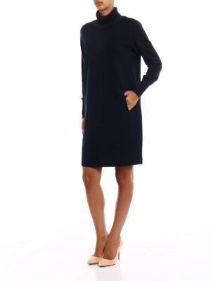 Fabiana Filippi: knee length dresses online - Scuba dress with knitted details