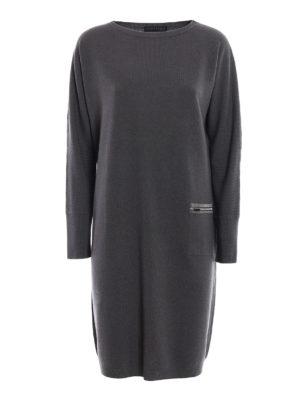 Fabiana Filippi: knee length dresses - Soft and warm straight line dress