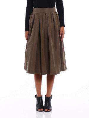 Fabiana Filippi: Knee length skirts & Midi online - Technical taffeta skirt
