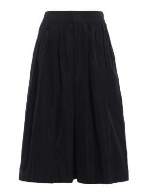 Fabiana Filippi: Knee length skirts & Midi - Technical taffeta skirt