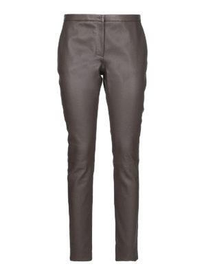 FABIANA FILIPPI: pantaloni in pelle - Pantaloni in pelle grigia