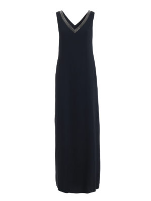 Fabiana Filippi: maxi dresses - Embellished fluid crepe maxi dress