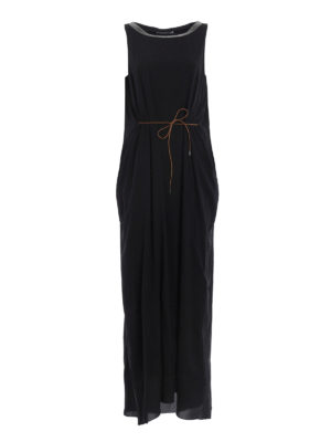Fabiana Filippi: maxi dresses - Jewel neckline silk dress