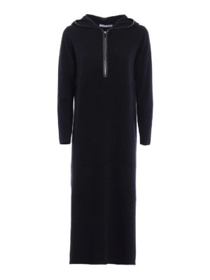 Fabiana Filippi: maxi dresses - Merino wool hooded maxi dress