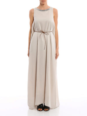 Fabiana Filippi: maxi dresses online - Jewel neckline silk dress