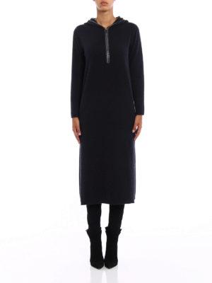 Fabiana Filippi: maxi dresses online - Merino wool hooded maxi dress