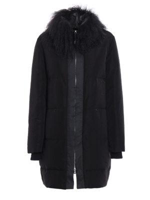 Fabiana Filippi: padded coats - Fur trimmed shimmering padded coat