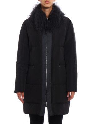 Fabiana Filippi: padded coats online - Fur trimmed shimmering padded coat