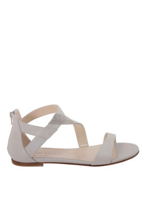 Fabiana Filippi: sandals - Adele embellished nappa sandals