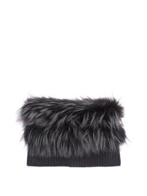 Fabiana Filippi: scarves - Fox fur and ribbed wool collar