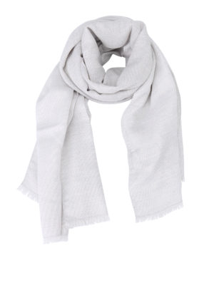 Fabiana Filippi: scarves - Lurex embellished wool blend scarf