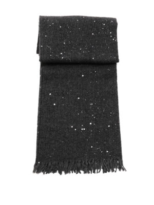 Fabiana Filippi: scarves online - Alpaca and wool sprayed scarf
