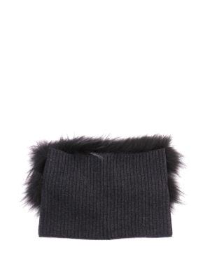 Fabiana Filippi: scarves online - Fox fur and ribbed wool collar