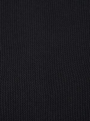 Fabiana Filippi: scarves online - Oversize knitted dark grey scarf
