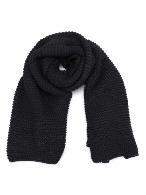Fabiana Filippi: scarves - Oversize knitted dark grey scarf