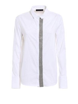 Fabiana Filippi: shirts - Embellished cotton blend shirt