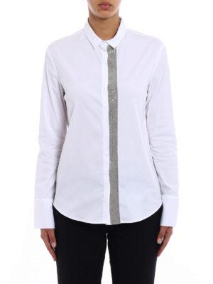 Fabiana Filippi: shirts online - Embellished cotton blend shirt