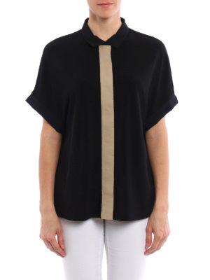 Fabiana Filippi: shirts online - Short sleeve crepe shirt