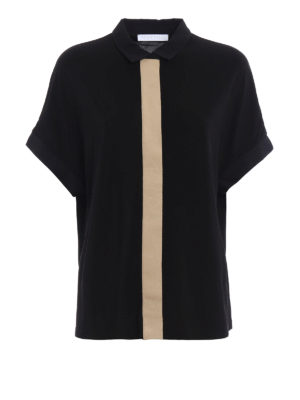 Fabiana Filippi: shirts - Short sleeve crepe shirt