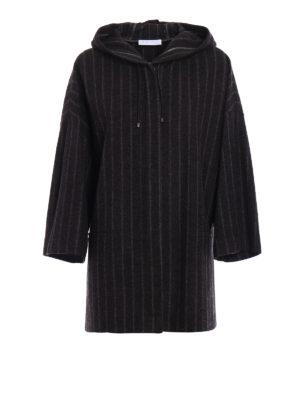 Fabiana Filippi: short coats - Pinstriped merino blend short coat