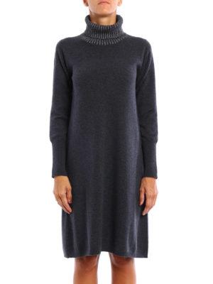 Fabiana Filippi: short dresses online - Shimmering turtleneck knitted dress