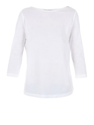 Fabiana Filippi: t-shirts - Belted cotton Tee